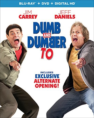 Dumb & Dumber To Carrey Daniels Blu Ray DVD Dc Pg13