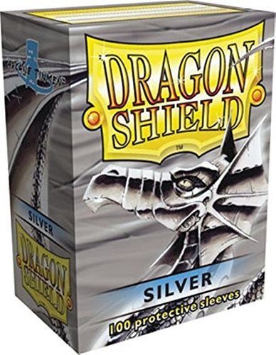 Card Sleeves Dragon Shield Silver 100 Ct. Standard Size