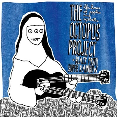 Black Moth Super Rainbow + The Octopus Project The House Of Apples And Eyeballs Blue & White Splatter Vinyl Download Limited To 1000