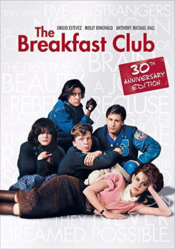 Breakfast Club Ringwald Estevez Hall Nelson DVD 30th Anniversary R