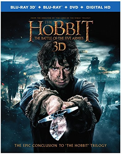 Hobbit Battle Of The Five Armies Mckellen Freeman Armitage 3d Blu Ray DVD Dc Pg13