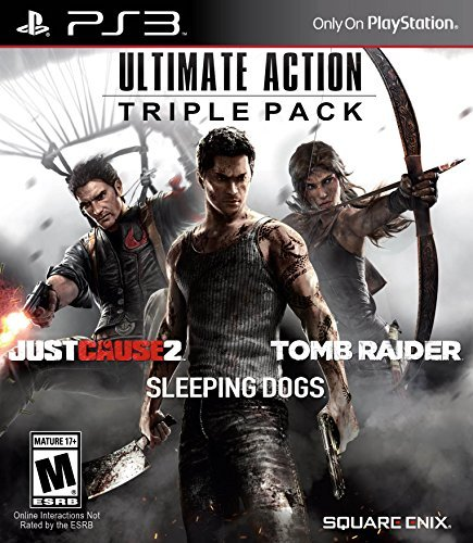 Ps3 Ultimate Action Triple Pack Just Cause 2 Tomb Raider Sleeping Dogs
