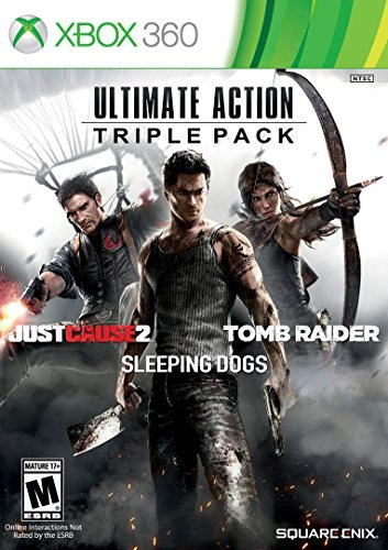 Xbox 360 Ultimate Action Triple Pack Just Cause 2 Tomb Raider Sleeping Dogs