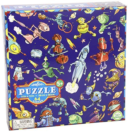 Toy Lots Of Robots 64 Piece Puzzle E