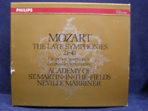 Wolfgang Amadeus Mozart Sir Neville Marriner Acade Mozart The Late Symphonies 21 41