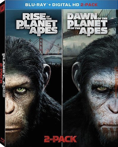 Planet Of The Apes Double Feature Rise Of The Planet Of The Apes Dawn Of The Planet Of The Apes Blu Ray