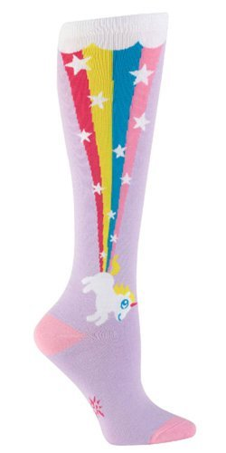 Sock It To Me Unicorn Rainbow Blast Knee High Tube Socks