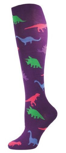 Socks Kneehigh Dinosaur