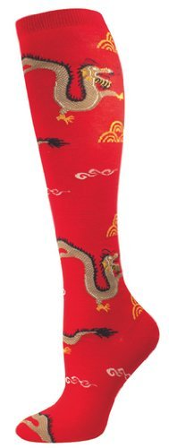 Socks Kneehigh Dragon