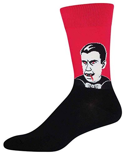 Socks Mens Crew Dracula Red