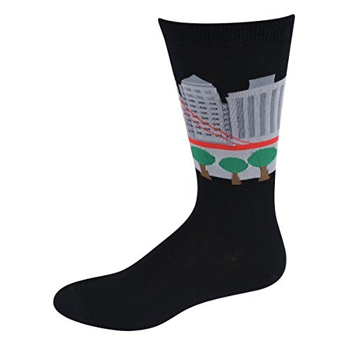 Socks Mens Crew Rawr! Blk