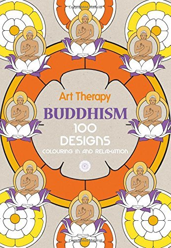 Marthe Mulkey Art Therapy Buddhism 100 Designs Colouring In And Relaxation