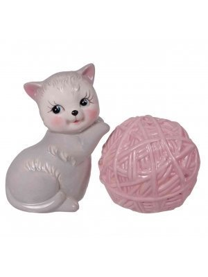 Novelty Kitten & Yarn Salt & Pepper Set