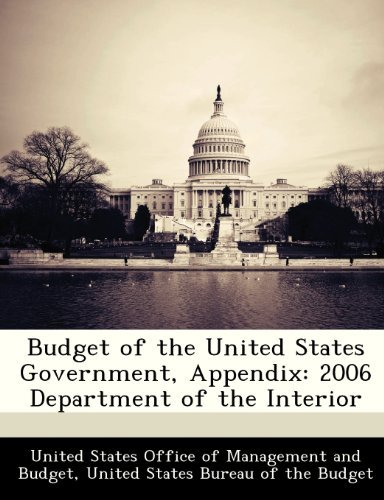 Budget Of The United States Government Appendix 2006 Department Of The Interior