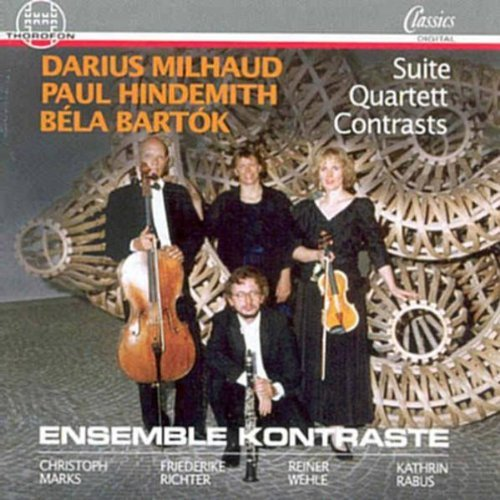 Milhaud Hindemith Bartok Ste. For Violin Clarinet Pn. Ens. Kontrast