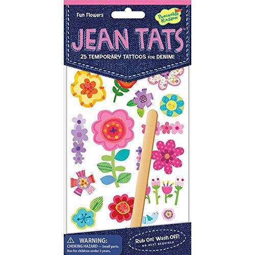 Jean Tattoos Fun Flowers
