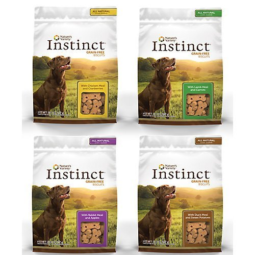 Nav D Inst Bisc Duck 21oz Instinct Biscuit Treat With Duck Meal Sweet Potato And Cinnamon Size 21 Oz