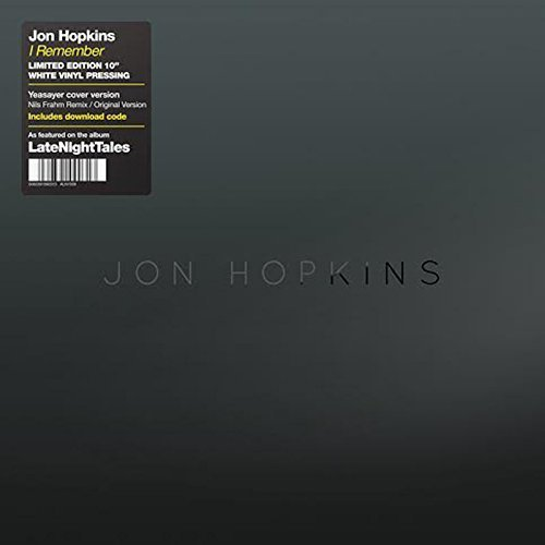 Jon Hopkins Remember (nils Frahm Remix) 10 Inch Vinyl
