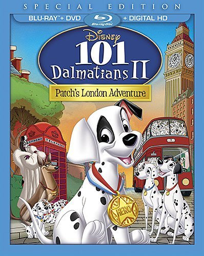 101 Dalmatians 2 Patch's London Adventure Disney Blu Ray