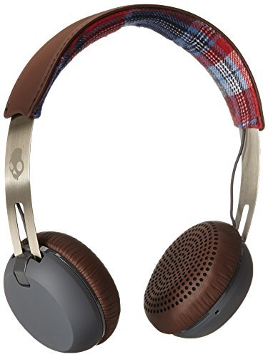 Headphones Grind Americana Plaid Gray