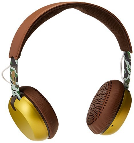 Headphones Grind Scout Camo Brown Gold