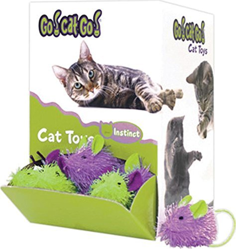 Our Go Cat Bulky Mouse 48ct Go Cat Go	mini Hairy Mouse Catnip Toy