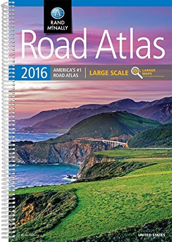 Rand Mcnally Road Atlas Large Scale 2016