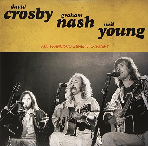 Crosby Nash Young San Francisco Benefit Concert Lp