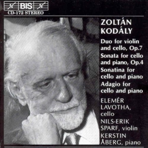 Zoltan Kodaly Kodaly Duo For Violin & Cello Lavotha*elemer Sparf*nils Erik
