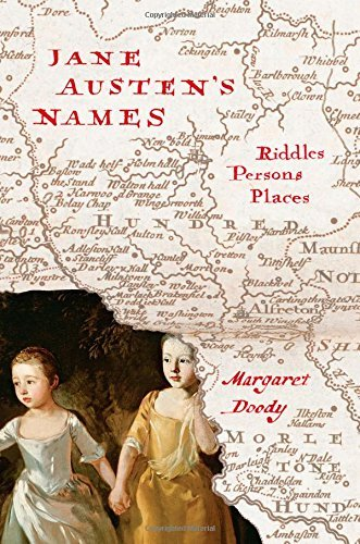 Margaret Doody Jane Austen's Names Riddles Persons Places