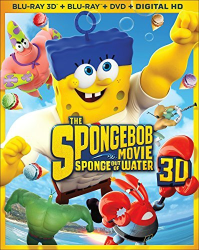 Spongebob Movie Sponge Out Of Water Spongebob Movie Sponge Out Of Water 3d Blu Ray DVD Dc Pg