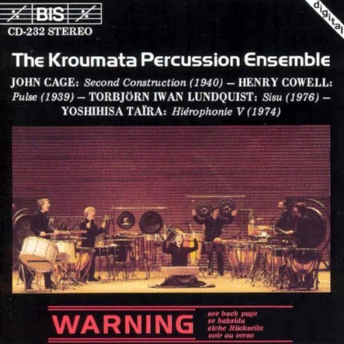 Cage John Cowell Henry Lundqui Kroumata Percussion Ensemble Kroumata Percussion Ensemble