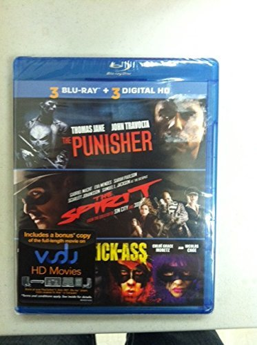 Thomas Jane Gabriel Macht Christopher Mintz Plasse 3 Blu Ray Movie Collection The Punisher The Spiri 3 Blu Ray Movie Collection The Punisher The Spiri