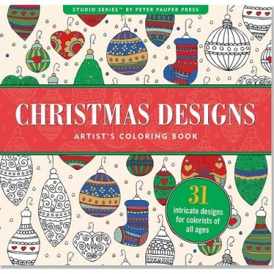 Joy Ting Christmas Designs Artist's Coloring Book (31 Stres