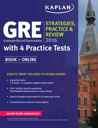 Kaplan Gre 2016 Strategies Practice And Review With 4 P Book + Online