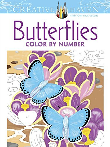 Jan Sovak Creative Haven Butterflies Color By Number Colorin