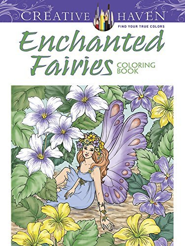 Barbara Lanza Creative Haven Enchanted Fairies Coloring Book