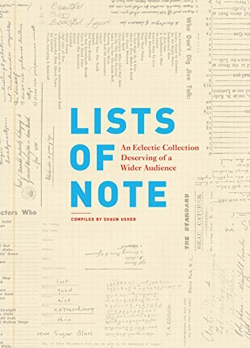 Shaun Usher Lists Of Note An Eclectic Collection Deserving Of A Wider Audie