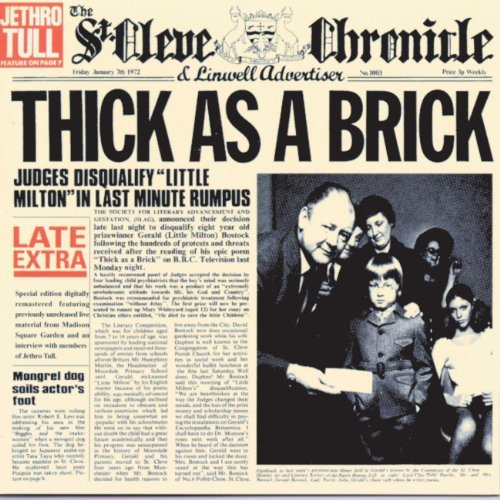 Jethro Tull Thick As A Brick (steven Wilson Mix) Thick As A Brick (steven Wilson Mix)