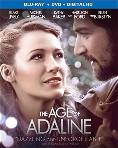 Age Of Adaline Lively Huisman Ford Burstyn Blu Ray DVD Dc Pg13