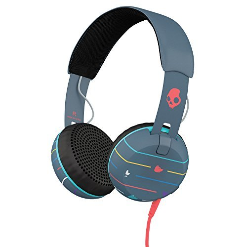 Headphones Grind Stripes Navy Blue