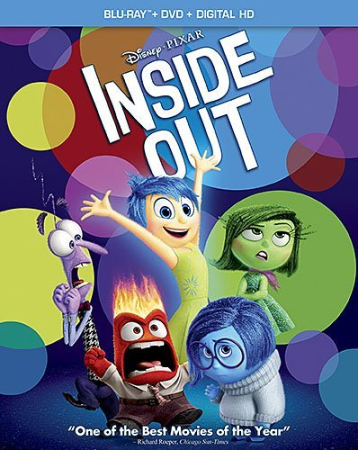 Inside Out Disney Blu Ray DVD Dc Pg