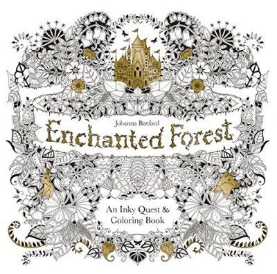 Johanna Basford Enchanted Forest An Inky Quest & Coloring Book