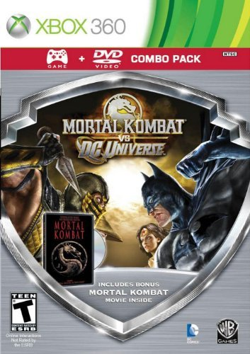 Xbox 360 Mortal Kombat Vs Dc Universe Silver Shield Combo Pack Whv Games