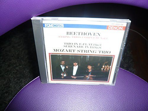 L.V. Beethoven String Trios Complete Vol.1 Trio In E F