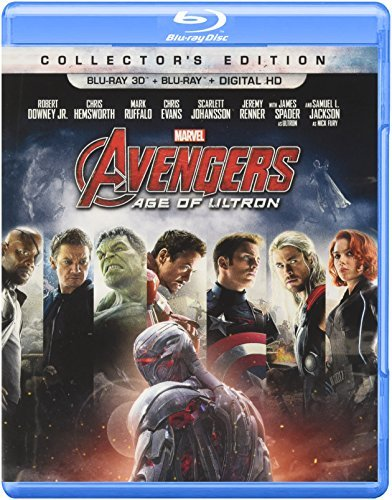 Avengers Age Of Ultron Downey Jr. Hemsworth Evans Johansson Ruffalo 3d Blu Ray Dc Pg13
