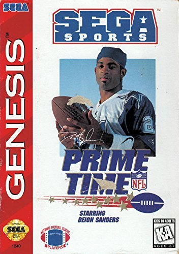 Sega Genesis Prime Time Nfl Football Starring Deion Sanders