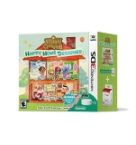 Nintendo 3ds Animal Crossing Happy Home Designer Bundle (game Amiibo Card Reader Writer)