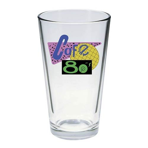 Pint Glass Back To The Future Cafe 80's