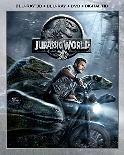 Jurassic World Pratt Howard 3d Blu Ray DVD Dc Pg13